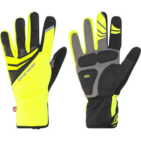 PEARL iZUMi Elite Gel Softshell Gloves Men screaming yellow